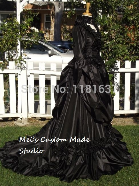 Custom Made Mina Dracula Victorian Bustle Gown Black Color Lower ...