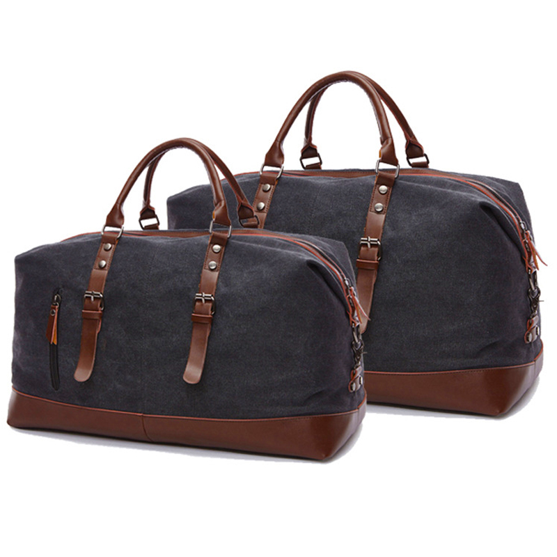 High Quality Canvas Travel Bag Woman Men Duffle Large Capacity Travel Luggage Bag Carry On Casual Vintage Weekend Bag Overnight