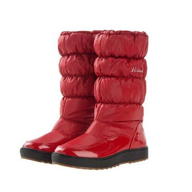 Para-40 Grados Mujer Botas Botas de Invierno Nuevo 2015 de la Marca A Prueba de agua zapatos de Mujer de la Nieve Botas de Piel de Felpa Interior Grande Más El Tamaño 35-41