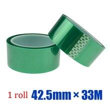 1roll * 42.5mm * 33M  Green Powder Coating Masking PET Tapes