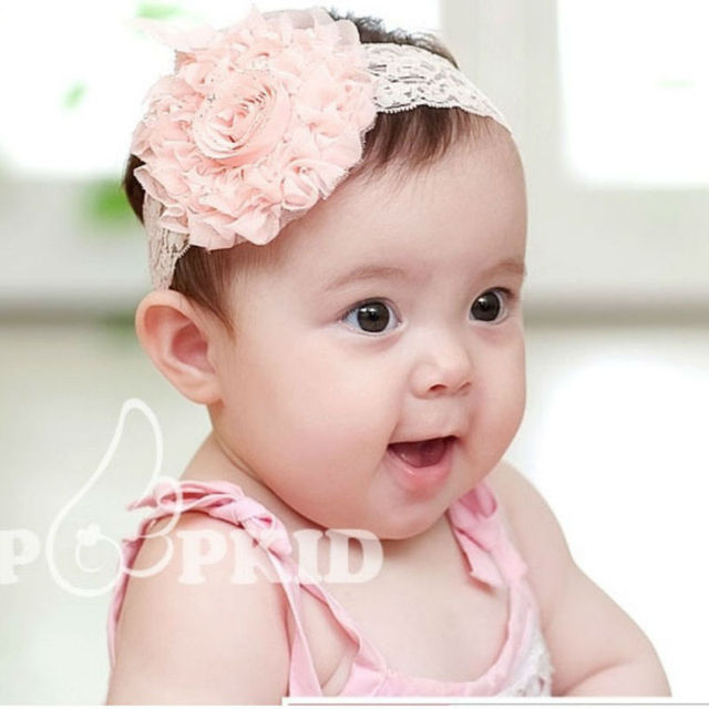 New hot wholesale big flower headbands baby headbands children hair band 3 color 5 PCS/lot free shipping