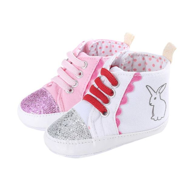 1a6fce23bc2c Fashion Newborn Kids Printed Ankle Sneakers Soft Crib Shoes Bling Toddler  Children Canvas Shose