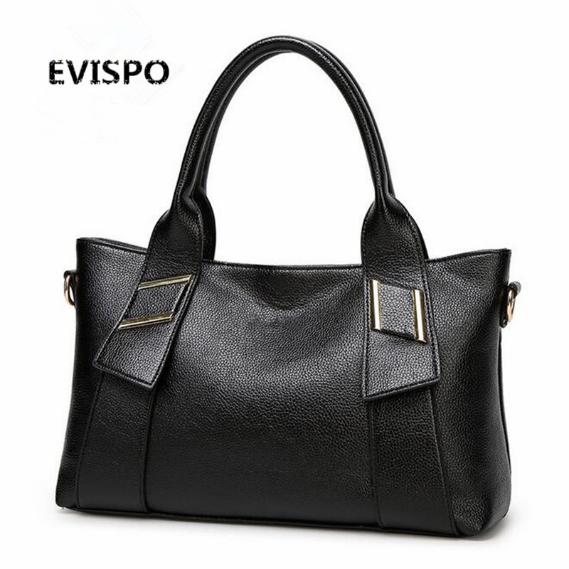 Hot Selling Solid Women Handbags PU Leather Shell Woman Shoulder Bags Travel
