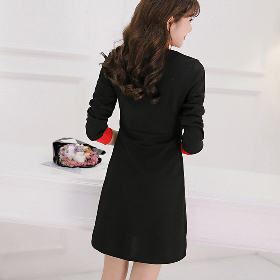 Korean Dress Sleeve Plus Size Loose Knit Party Dresses Large Sizes ...