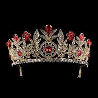 XIUFEN Rhinestone Tiaras Bridal Crown Headband Women Headpiece Floral Wedding Hair Accessories Crystal Bride Hair Jewelry