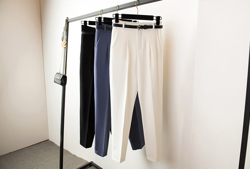 BGTEEVER OL Style White Women Pants Casual Sashes Pencil Pant High Waist Elegant Work Trousers Female Casual pantalon femme 18 13