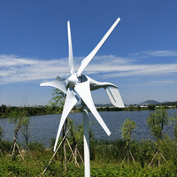 5 Blades 400W 12 24V Wind Turbine Generator With Waterproof Charge Controller Household Use Wind Generator Kits
