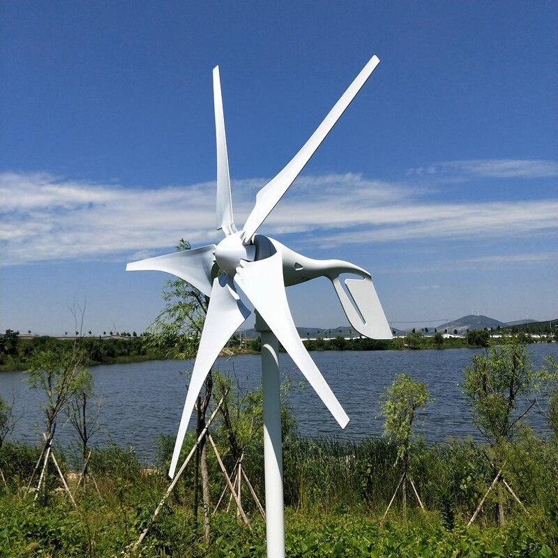 Générateur d'éolienne 5 lames 400 W 12-24 V avec contrôleur de Charge étanche Kits d'éoliennes à usage domestique
