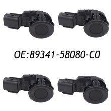 4PCS 89341-58080 89341-58080-C0 PDC Backup Reversing Ultrasonic Parking Aid Sensor For Toyota