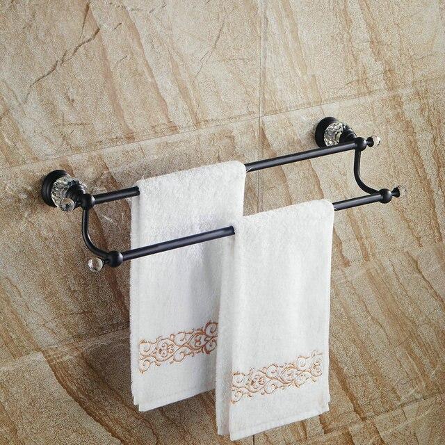 Solid Brass Towel rack Black Towel bar Bathroom Accesseries Wall ...