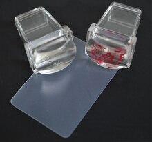 1pcs Transparent  Jelly Nail Art Stamper 3.5cm Square Nail Stamping Stamp Scraper Polish Print Transfer Nail Stamper Tools,KJ211