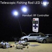 4メートルのrfリモートコントローラー12ボルトスピニング釣りロッド伸縮超軽量釣りポールランプ用ストリート照明キャンプランタン