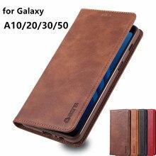 AZNS-funda magnética de cuero PU para Samsung Galaxy, funda de billetera de atracción para Samsung Galaxy A10, A20, A30, A50, A60, A70, A50s, A30s, A10s, A20s, A40