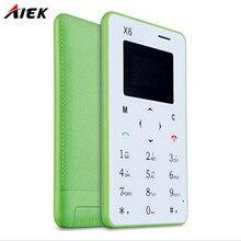 Original Neue ankunft Ultra Thin AIEK/AEKU X6 Mini-Karte Telefon Student Entriegelt Mini Handytasche Multi sprache