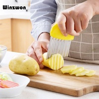 Волнистый нож для нарезки картофеля