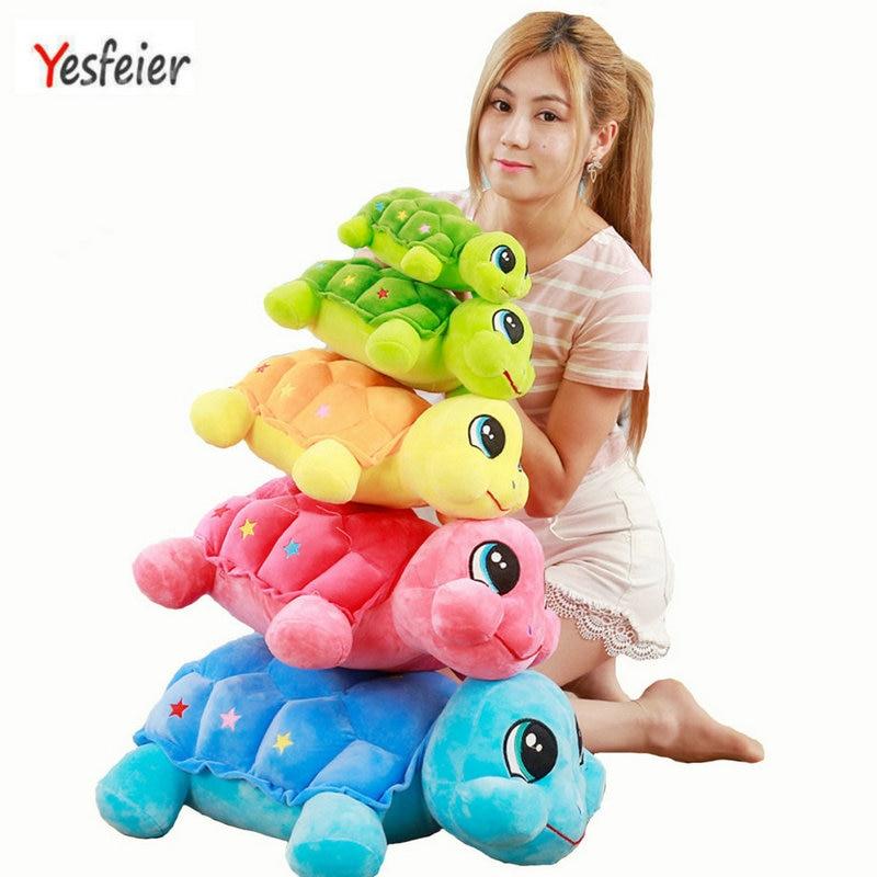 23-55cm cartoon boy girl child Pillow Cushion stuffed plush animals Yesfeier Plush toy turtle Cartoon tortoise lovely doll