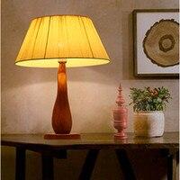 New chinese style streamlined folding fabric art Table Lamps Modern creative resin lamp for bedroom&studio&foyer&writing desk