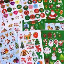9 листов(160 наклеек)/Партия. Рождественские бумажные наклейки, декоративные этикетки для детей, игрушки для детского сада награда, наклейки, рождественские подарки, игрушки