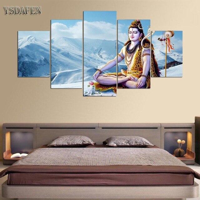Canvas Moderne Muur Art Pictures Home Decor Voor Woonkamer 5 Stuks ...