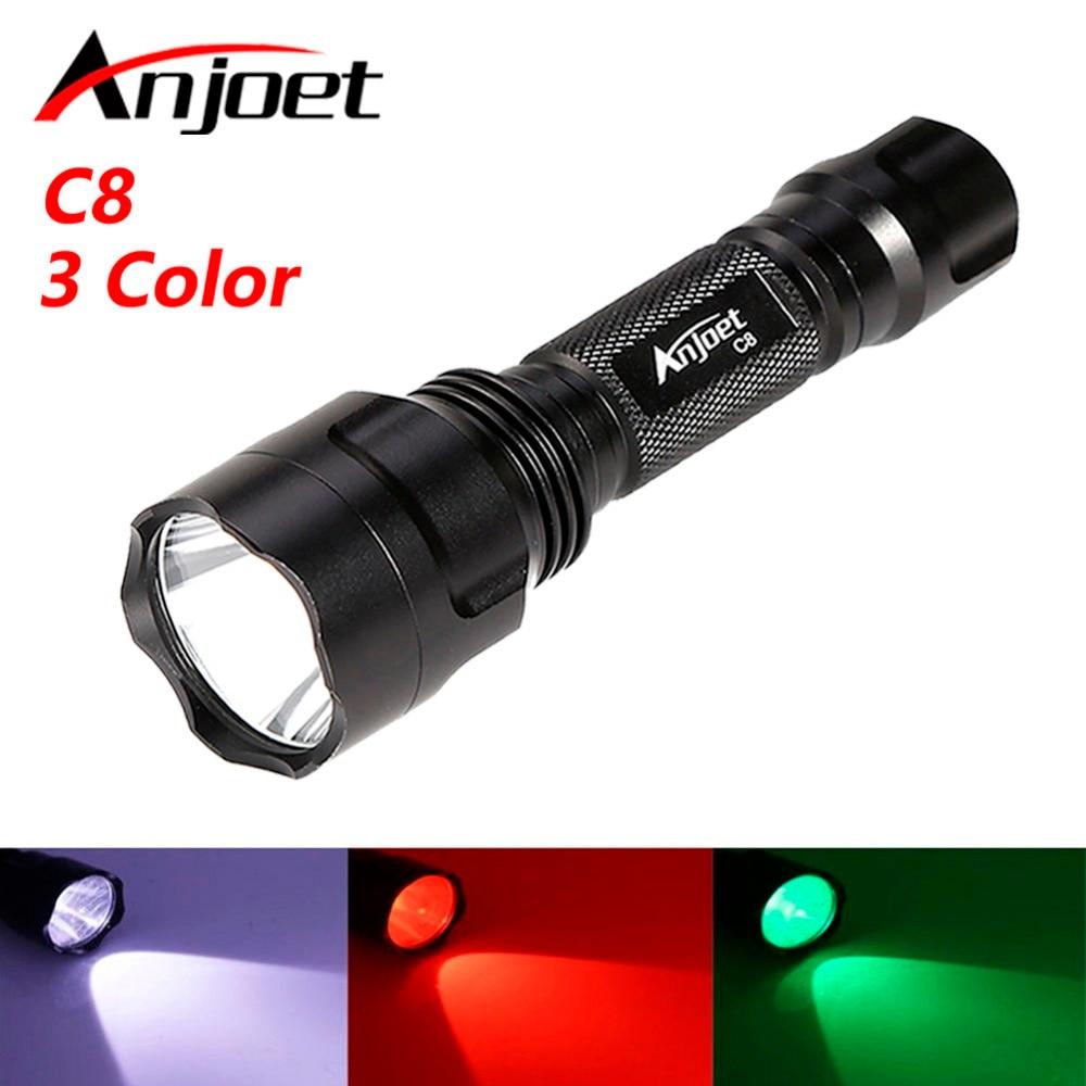 Lanternas e Lanternas anjoet c8 branco/verde/vermelho led lanterna Fonte de Luz : Lâmpadas Led