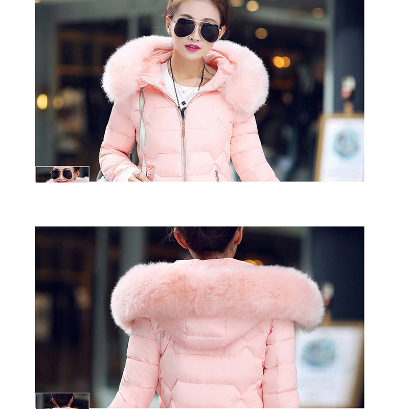Winter Short Women Jacket Coat Cotton Warm Fur Hooded Parkas Women Outwear Zip Casual Fashion Black Warm Female Coats WT4583 17
