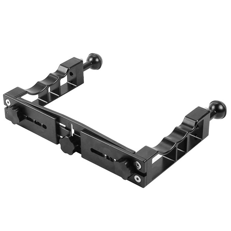 Image 3 - New Handle Aluminium Alloy Tray Stabilizer Rig For Underwater Camera Housing Case Diving Tray Mount For Gopro Dslr Smartphones-in Stabilizers from Consumer Electronics