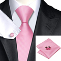 C-557 2016 Pink White Mens Ties Set Plaid Gravatas Necktie 8.5cm Silk Ties for Men Wedding Business Vestidos Corbatas Hombre