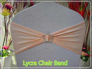 2-2 --With Crown Buckle-- Single Layer Spandex/Lycra/Expand Bands/Chair cover sash/Table For Wedding Party Banquet Decorations