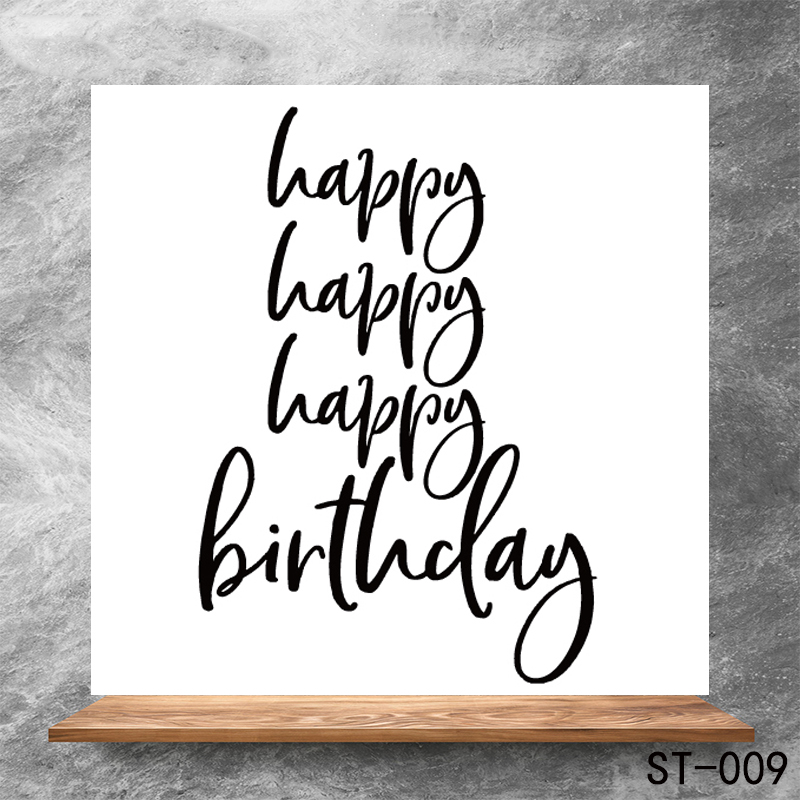 Birthday greeting Transparent Clear Stamps DIY Scrapbooking Album Card Making DIY Decoration Making Embossing Stencil in Stamps from Home Garden