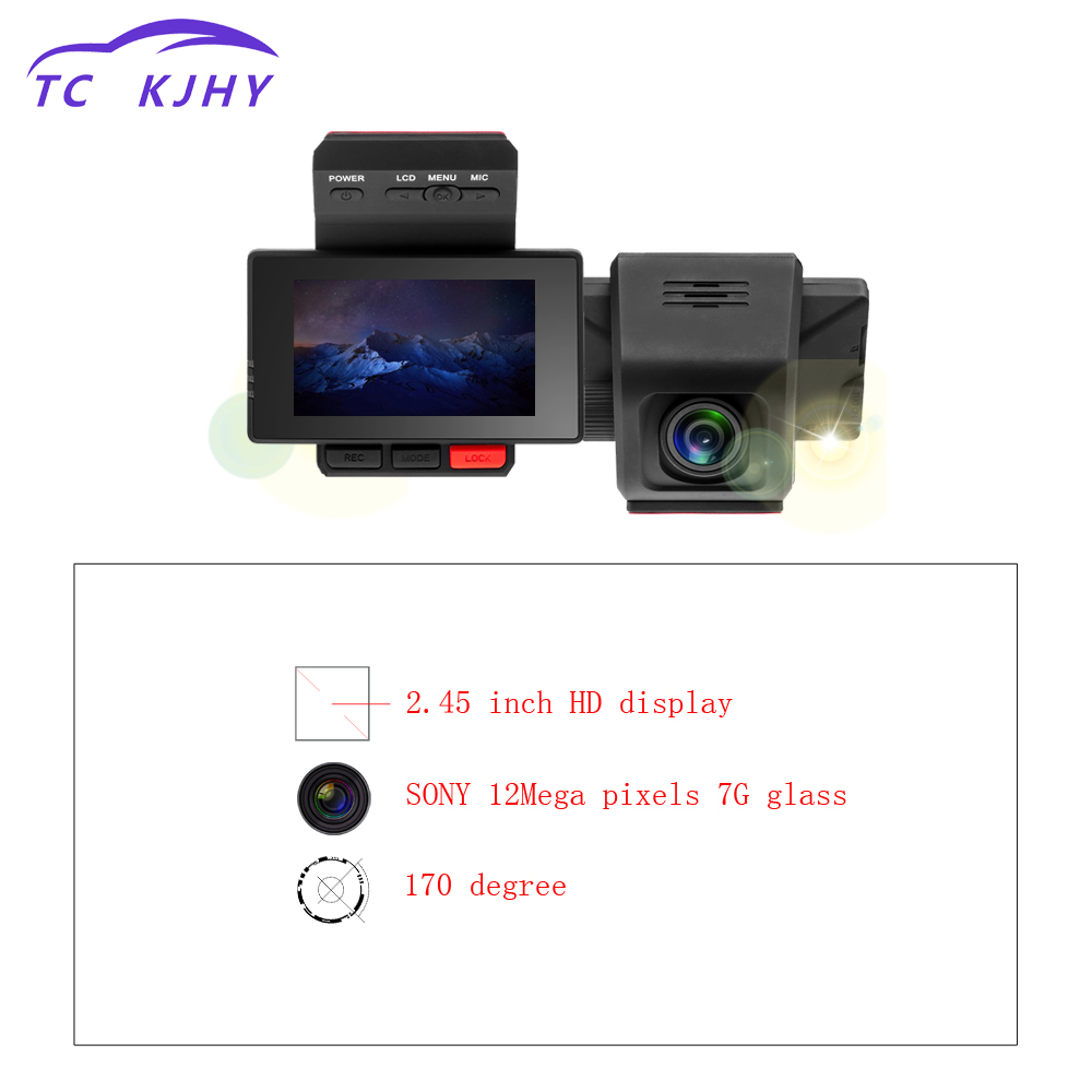 2018 Auto FHD 1080p Parking Monitoring 170 Wide-angle 2.45'' Dsah Cam Car DVR GPS Video Recorder Camera Wifi G-Sensor Car Dvrs цена