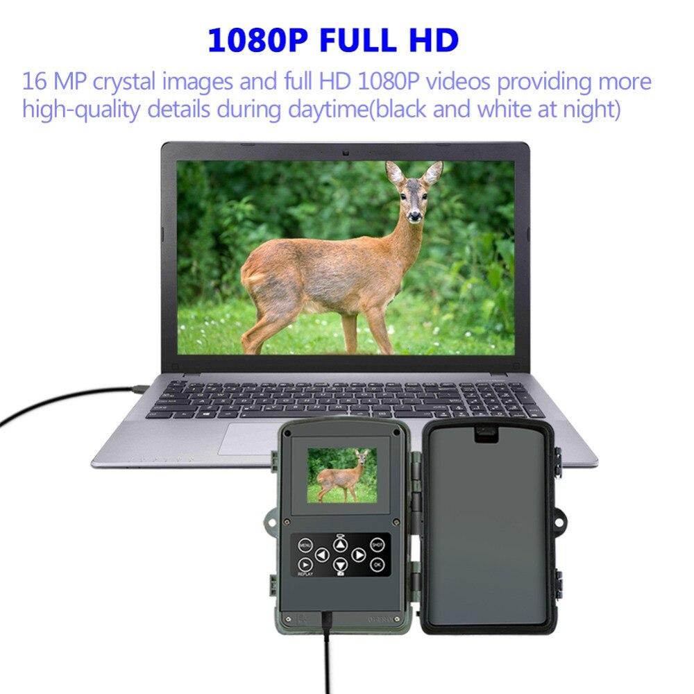 Goujxcy HC801A caméra de Chasse 16MP caméra de sentier Vision nocturne forêt étanche caméra de faune photo pièges caméra Chasse Scouts - 3