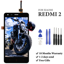 For Xiaomi Redmi 2 LCD Display With Frame Digitizer Assembly OEM No Dead Pixel Panel For Redmi 2 Pro Prime 2A LCD Touch Screen 100% new for xiaomi redmi 2 lcd display digitizer touch screen replacement hongmi 2 redmi 2 pro prime 2a parts with free tools