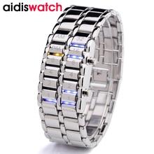 купить 2019 coolest watches couple digital sports mens waterproof alloy wristwatch ladies casual watch women bracelet watches по цене 1281.78 рублей