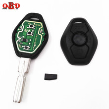 цена на HKOBDII 3 Button 433/315MHZ Remote Car Key For BMW X3 X5 E38 E39 E46 4 Track EWS System With Uncut HU58 Blade PCF7935/ID44 Chip