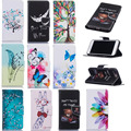 Luxury Ultra Thin Cartoon Print TPU + PU Leather Flip Phone Bag Business Wallet Cover Case For Apple iPhone 7 Plus 5.5 inch