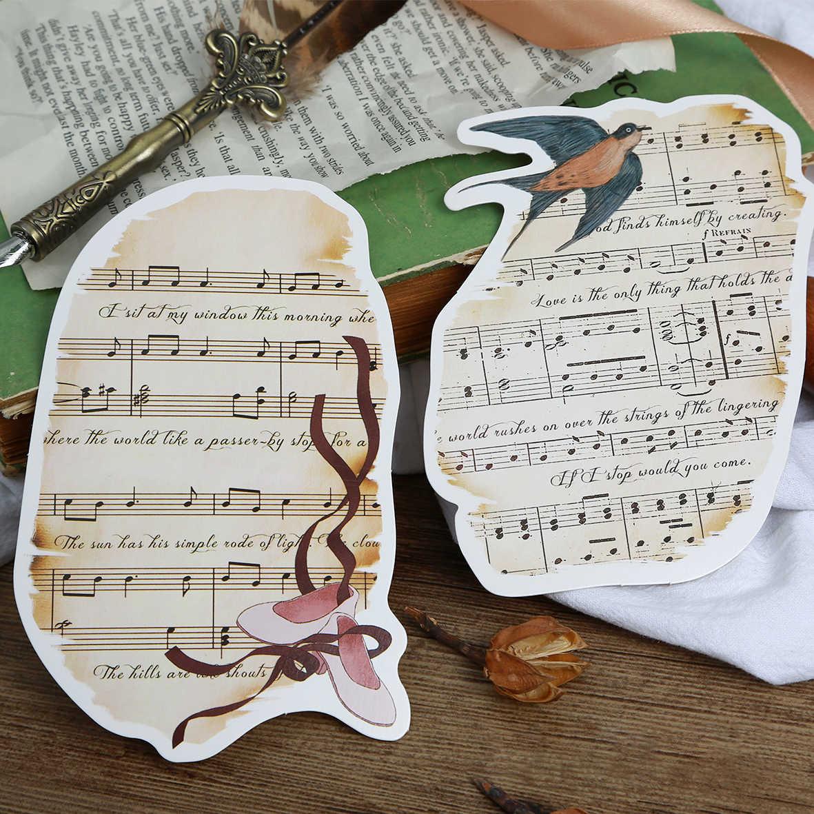 30 Uds Parte Del Diseño De La Puntuación Musical Tarjeta Postal De Memoria Invitación Tarjetas De Felicitación Regalo Postal De Navidad Invitación