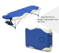Professional Portable Folding Massage Bed With Carring Bag Salon Furniture Wooden Bed Foldable Beauty Spa Massage