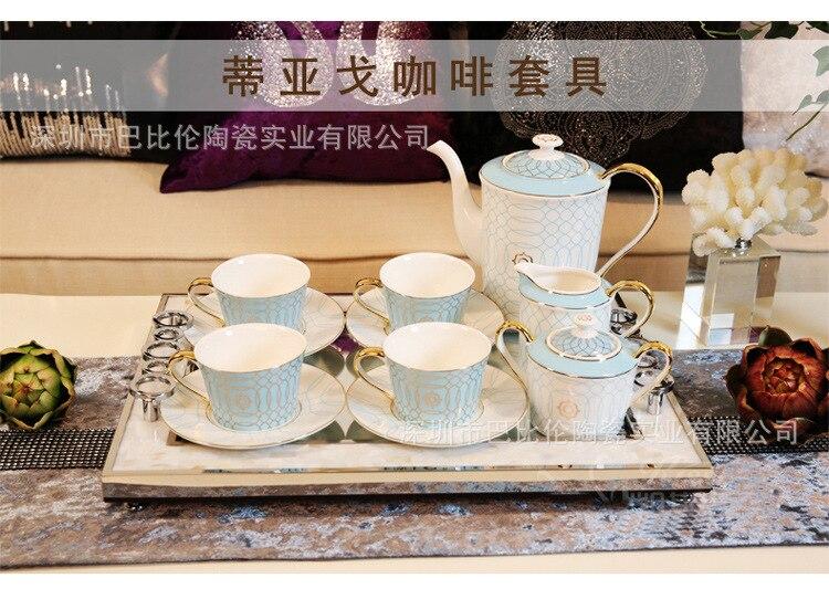 azul círculo tarde chá loja cerâmica xícara de café prato