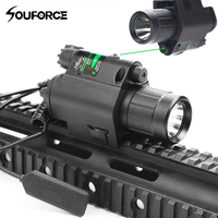 USA Tactical Green/Red Laser Sight and LED Flashlight with 20mm Picatinny Rail Mount for Glock 17 19 22 For Rifle Airsoft