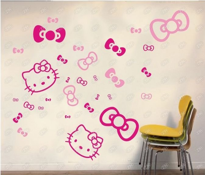 Cartoon Hello Kitty Wall Sticker Decorative Sticker. 3411 3 ... Part 33