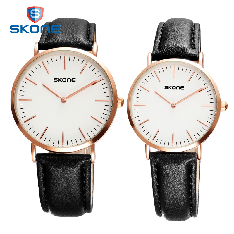 SKONE New Arrival Lovers Quartz-watch Casual Women Watches Fashion Ultra Thin Watch Men Relojes Hombre 2017 Relogio Masculino skone 7325 women quartz watch