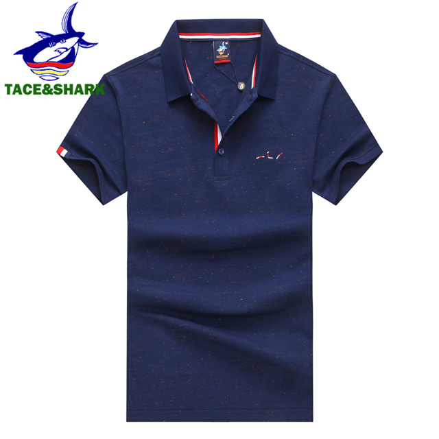 491e8308d4 TACE SHARK Brand Camisa Masculina Fashion Men Red Polo Shirt Business  Casual Solid Color Male Short Sleeve Polos Shirt Homme