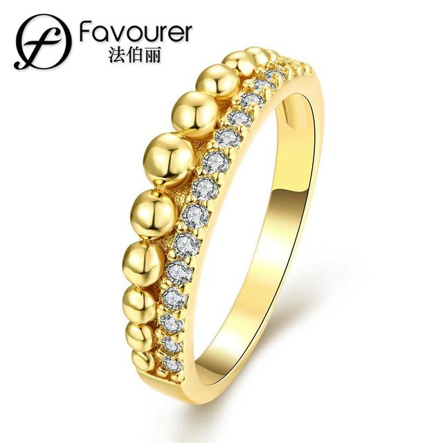 top sale new trendy gold ring cubic zircon rings unique design jewelry for women men