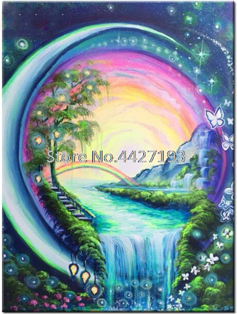 Drill 5D Crystal Painting Butterfly Waterfall Embroidery DIY Cross Stitch L