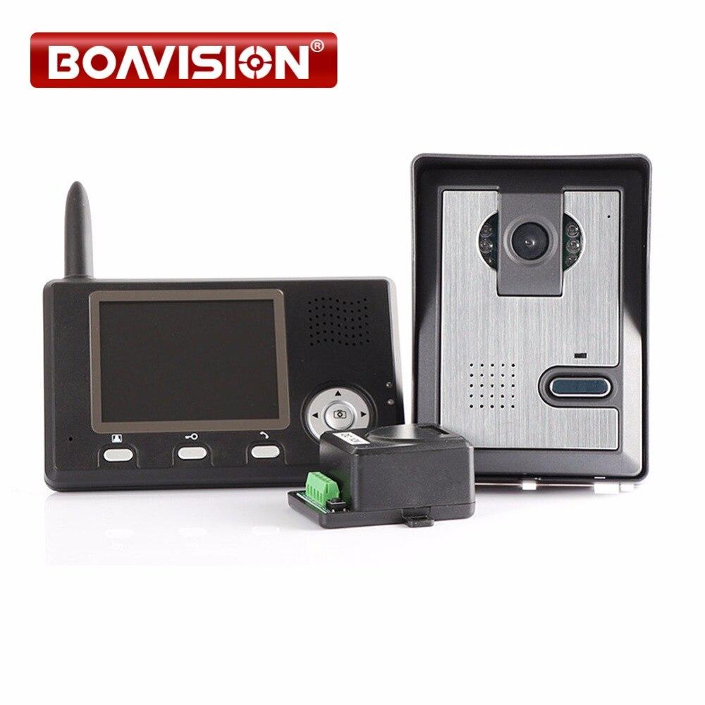 3.5Screen Wireless Door Intercom 2.4G Wireless Video Door Phone Intercom 1 To 1
