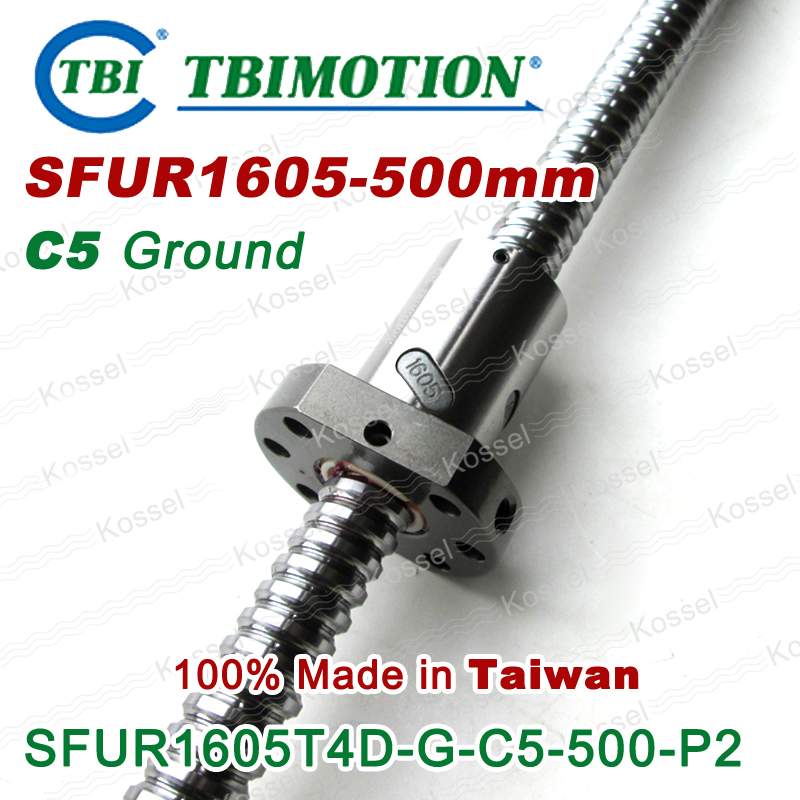 TBI Hot Sale CNC Ballscrew R1605 C5 L500mm SFU1605 ball screw with one  ball nut горелка tbi 240 5 м esg