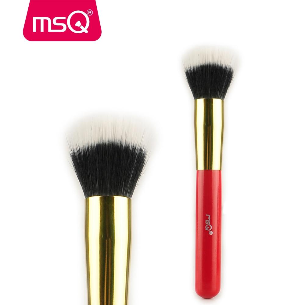 спрей brelil professional beauty hair bb powder MSQ Professional Makeup Brush Powder Foundation Make up Brush Goat Hair Stippling For Fashion Beauty Cosmetic Beauty Tools