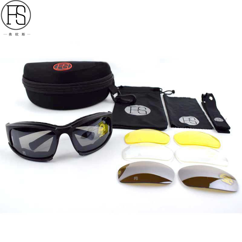 Caminhadas Eyewears militar airsoft goggles c5 Óculos Feature   Uv400  Protection 06c678729b