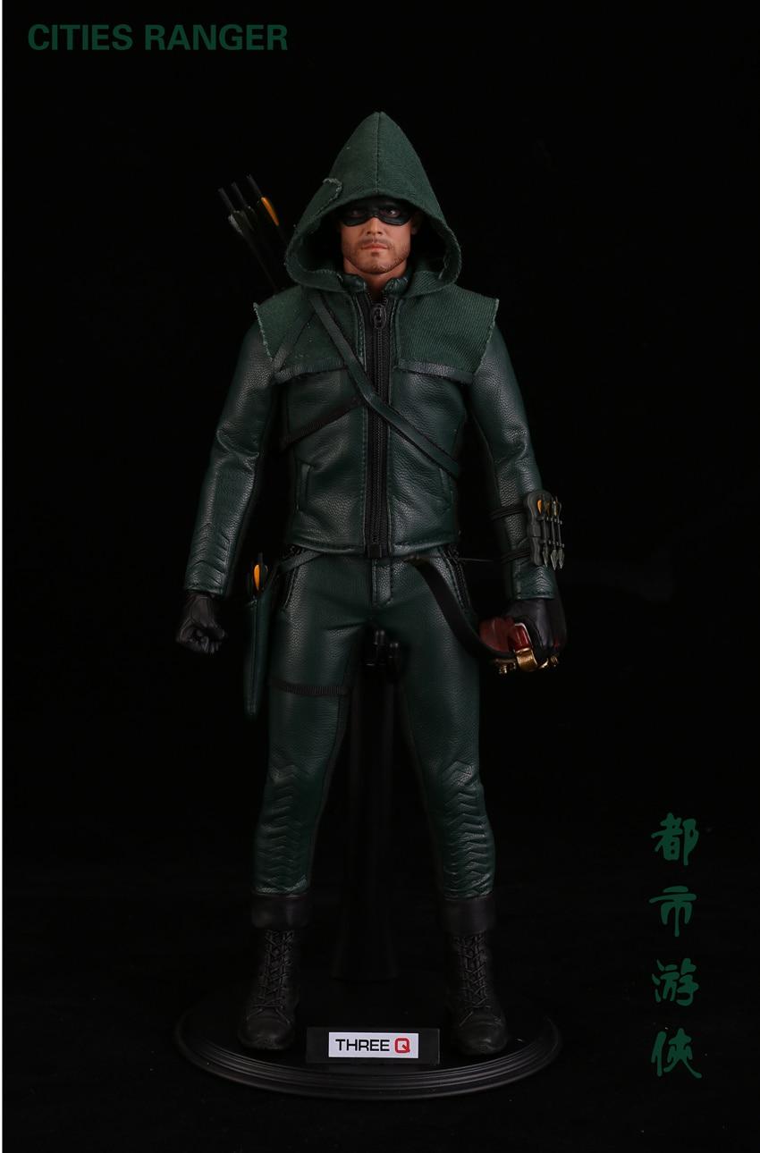 Покрасить... полный набор TQ1001 1/6 городах Ranger Oliver queen Зеленая Стрела DC героя сериала рисунок куклы для любителей праздник подарок