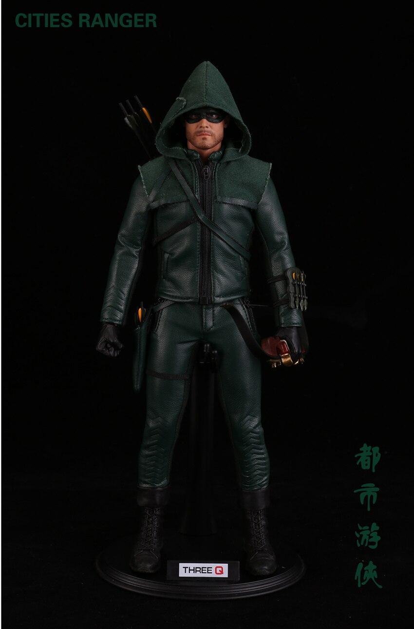 Collection ensemble complet TQ1001 1/6 villes Ranger Oliver Queen flèche verte DC héros série dramatique Figure poupée pour les Fans vacances cadeau